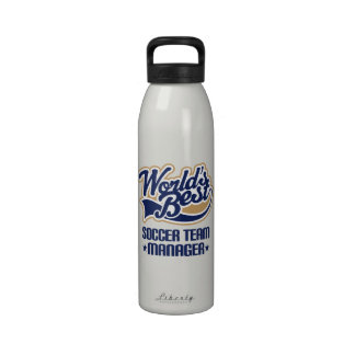 Soccer Team Manager Gift Water Bottle