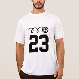 Soccer team shirts with custom jersey number