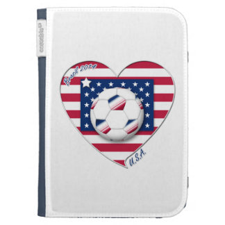 """Soccer Team """"U.S.A."""" Soccer of the United States Kindle Covers"""