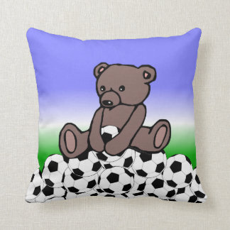 Soccer Teddy Cushion