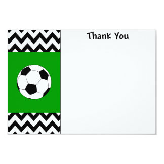 Soccer Thank you note cards 9 Cm X 13 Cm Invitation Card