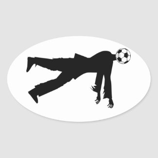 Soccer, the joy of the people! oval sticker