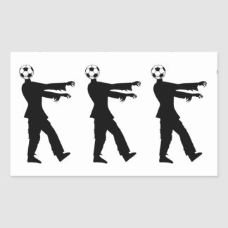 Soccer, the joy of the people! rectangular sticker