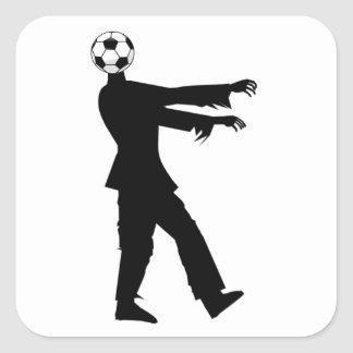 Soccer, the joy of the people! square sticker