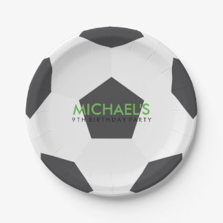 Soccer Themed Birthday Party 7 Inch Paper Plate