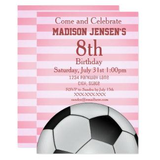 Soccer Themed Sports Girl's Birthday Invitation