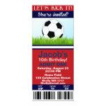 Soccer Ticket birthday invitation customisable