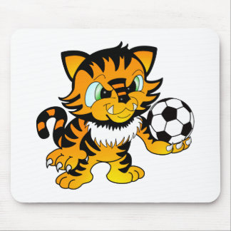Soccer Tiger Mouse Pad