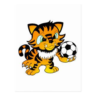 Soccer Tiger Postcard