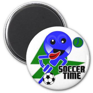 Soccer Time 6 Cm Round Magnet