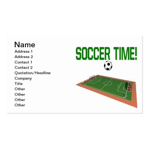 Soccer Time Business Card Template