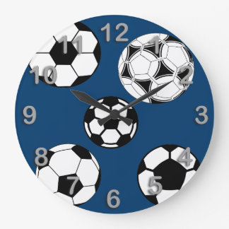 Soccer time large clock