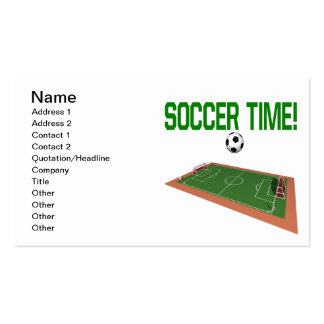 Soccer Time Pack Of Standard Business Cards