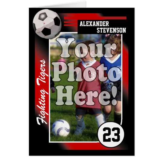 Soccer Trading Card, Custom Colour & Size See Card