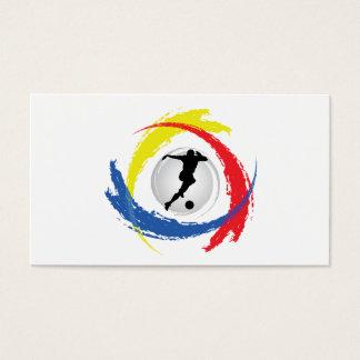 Soccer Tricolor Emblem Business Card