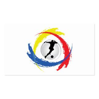 Soccer Tricolor Emblem Business Card Template