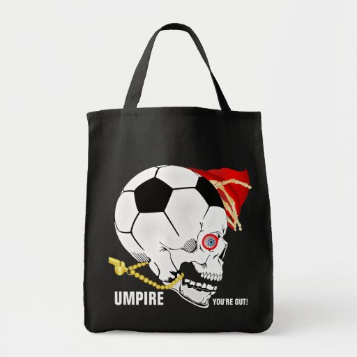 Soccer Umpire Grocery Tote Bag