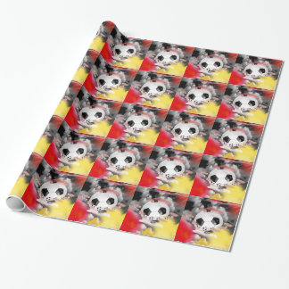 Soccer Universe Graphic Design Wrapping Paper