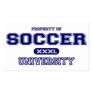 Soccer University Business Card Template