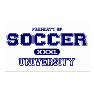 Soccer University Pack Of Standard Business Cards