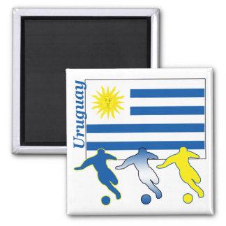 Soccer Uruguay Square Magnet