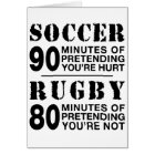 Soccer vs Rugby