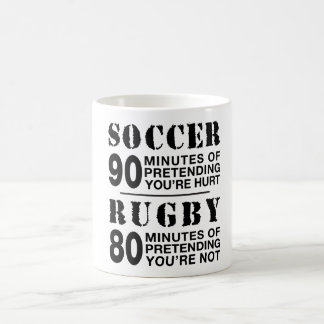 Soccer vs Rugby Coffee Mug