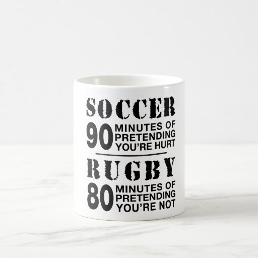 Soccer vs Rugby Coffee Mug