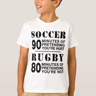 Soccer vs Rugby T Shirt