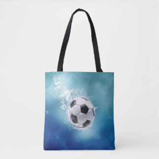Soccer Water Splash All-Over-Print Tote Bag