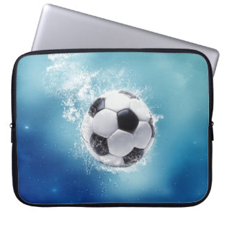 Soccer Water Splash Laptop Sleeve