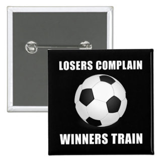 Soccer Winners Train 15 Cm Square Badge