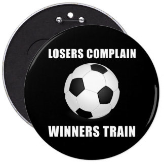 Soccer Winners Train 6 Cm Round Badge