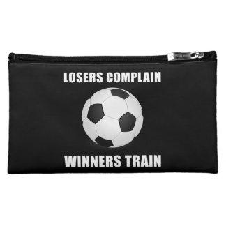 Soccer Winners Train Cosmetic Bags