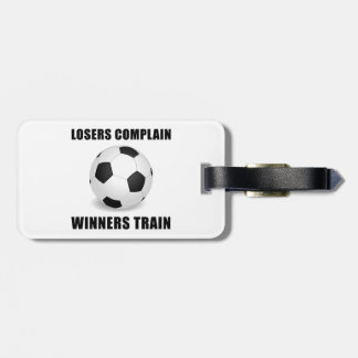 Soccer Winners Train Luggage Tag