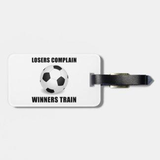 Soccer Winners Train Luggage Tag