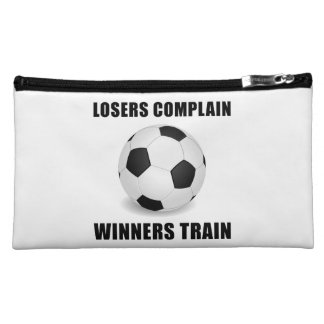 Soccer Winners Train Makeup Bags
