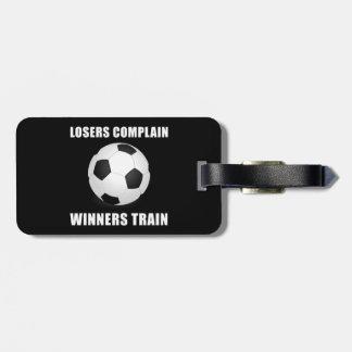 Soccer Winners Train Travel Bag Tags