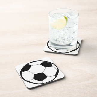 Soccer with ball coasters