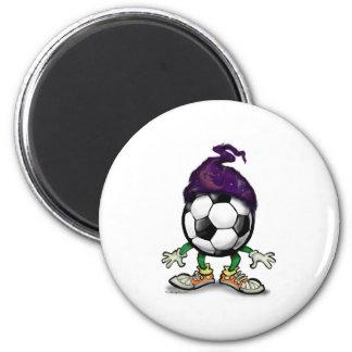 Soccer Wizzard 6 Cm Round Magnet