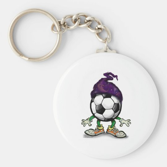 Soccer Wizzard Basic Round Button Key Ring