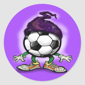 Soccer Wizzard Classic Round Sticker