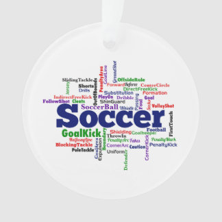 Soccer Word Cloud Ornament