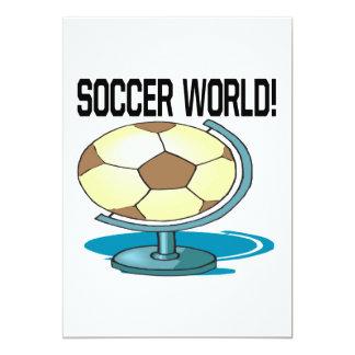 Soccer World 13 Cm X 18 Cm Invitation Card