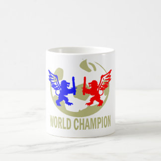 SOCCER WORLD CHAMPION LIONS BASIC WHITE MUG