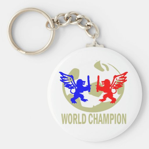 SOCCER WORLD CHAMPION LIONS KEYCHAIN