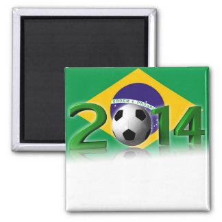 Soccer World Championship 2014 Square Magnet