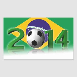 Soccer World Championship 2014 Rectangular Stickers