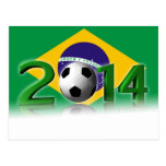 Soccer World Cup 2014 Cartes Postales