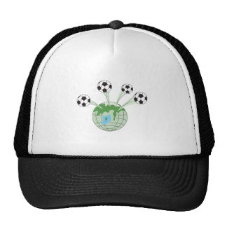 soccer world worldwide graphic mesh hats